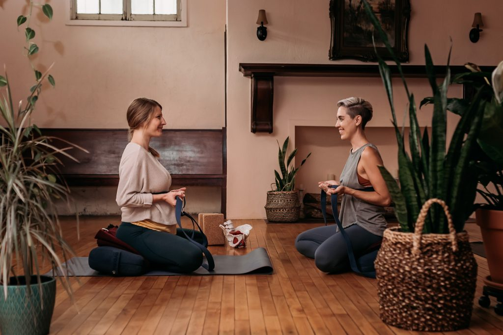 Prenatal yoga therapist Megan Peterson